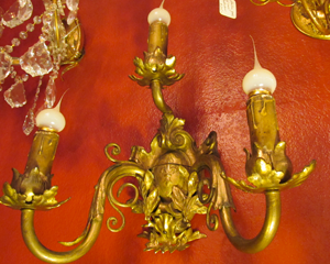 Late 1800's Gilt Bronze Sconces