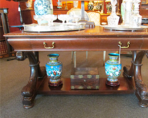 Dolphin Pedestal Desk