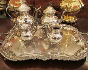 Coffee/Tea Set and Serving Tray