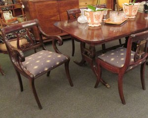Lyre Dining Table and Chairs