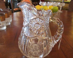 Cut Crystal Milk Pitcher