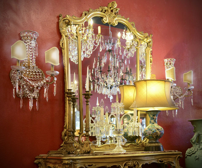 - Lighting And Lampshades Antique Chandeliers - Summerhill Antiques