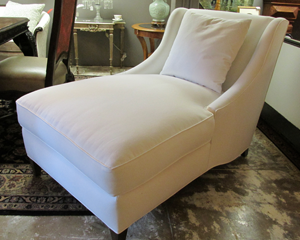 White Upholstered Chaise Lounge