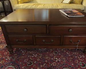 Ten-Drawer Coffee Table