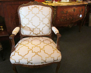 Open Arm Upholstered Chair