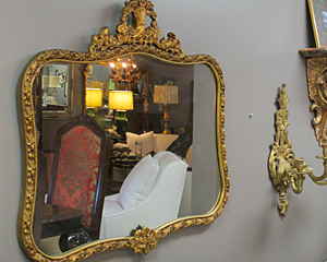 Curved French Mirror