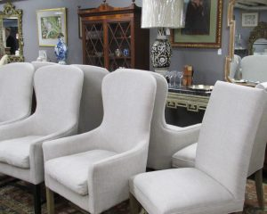 Set of Six Armchairs and Two Side Chairs
