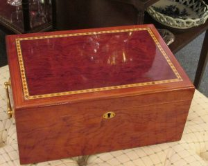 Inlaid Wood Cigar Humidor