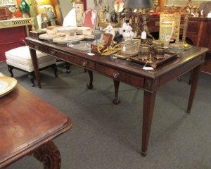 Mahogany Leather Top Desk