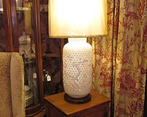 Pierced Blanc de Chine Lamp
