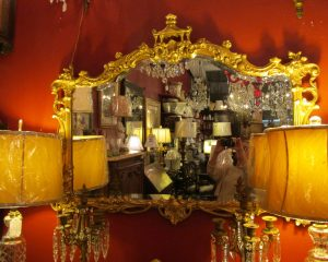 Chinoiserie Gold Mirror