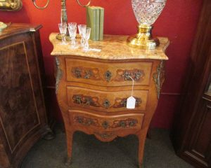 French Louis XV Marble Top Chest
