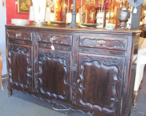 Antique Country French Walnut Sideboard