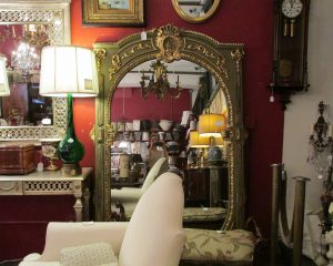 Large Gold Painted Mirror