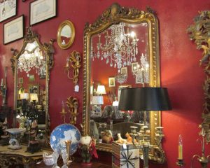 French Shell Motif Gold Mirror